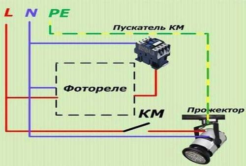 фотодатчик для уличного освещения схема подключения через выключатель