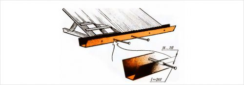Как сделать отлив на потолке