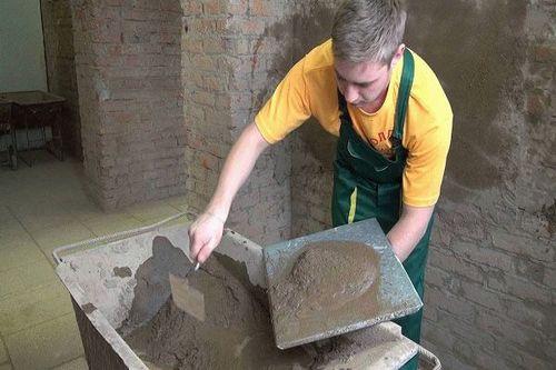 Штукатурка цементная стен 119