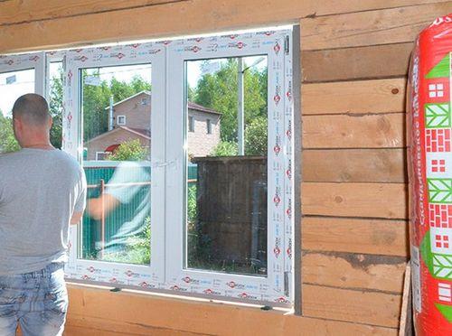 Как установить пластиковые окна в каркасном доме своими руками 12
