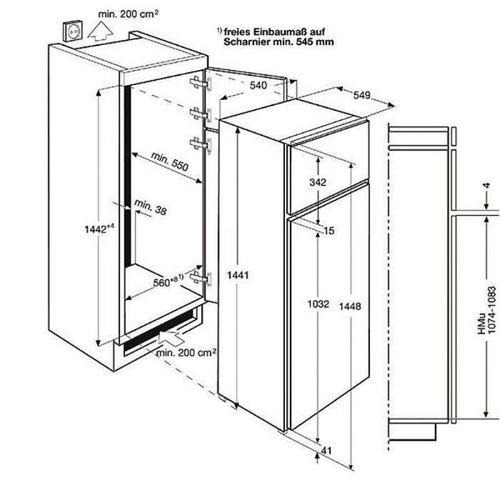 размеры холодильника стандартная ширина габариты и высота бытовые