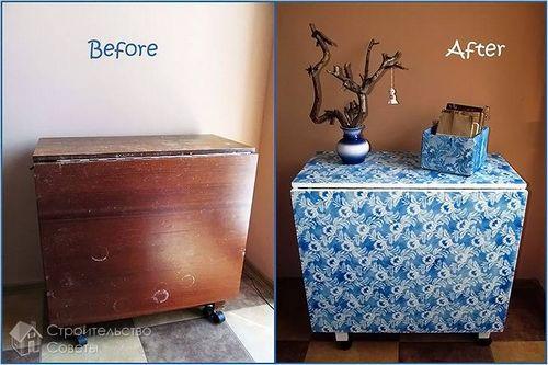 Как украсить старую мебель своими руками фото до и после 12