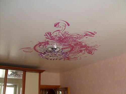 Как сделать рисунок на потолке