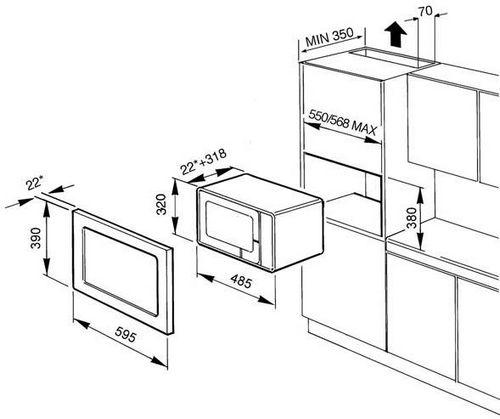 Встроенная микроволновка схема