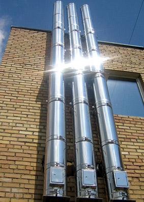 Дымоход из стальной устройство дымоходов от котла