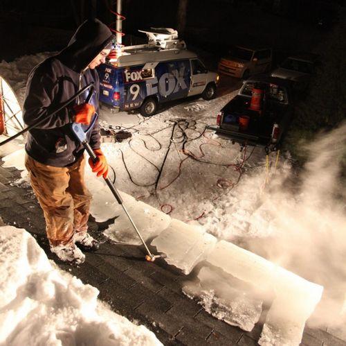 Уборка снега мотоблоком кайман