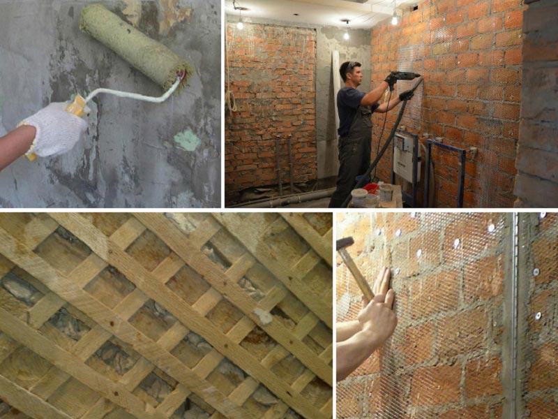 Как сделать раствор для стены 770