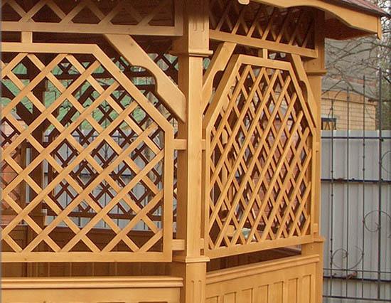 Деревянные решетки для веранды своими руками 26