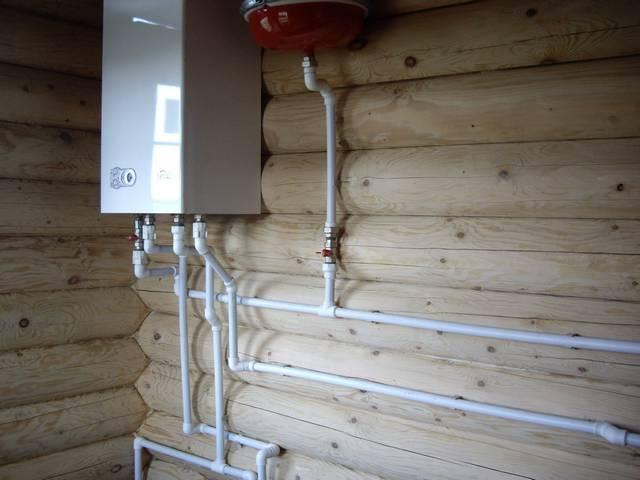 Установка газового котла навесного в доме своими руками
