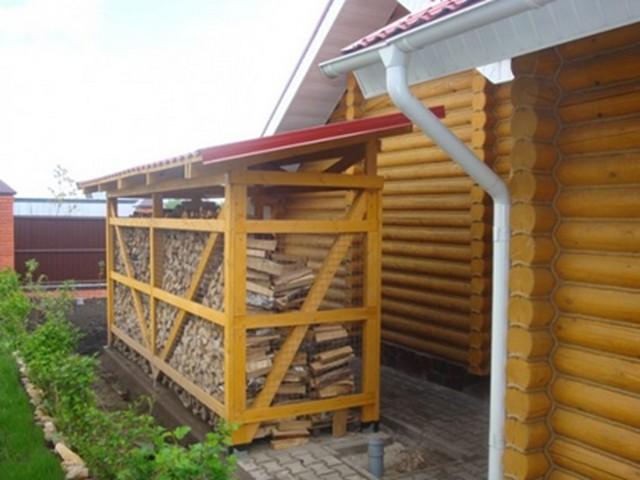 Как построить навес для дров на даче