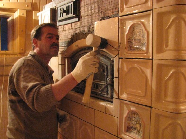 Как обложить печь терракотовой плиткой своими руками 31