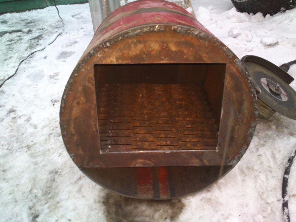 Печка из газовых баллонов своими руками