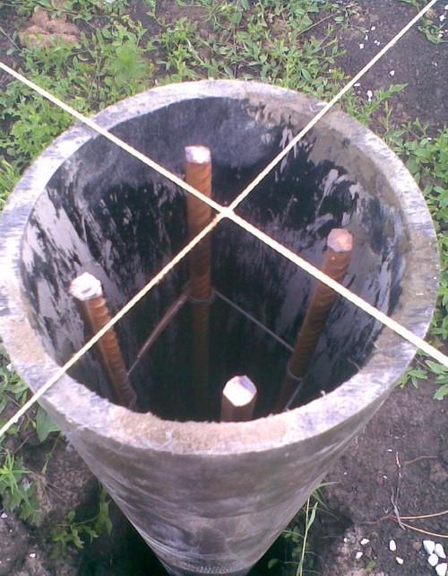 Асбестовые трубы фундамент своими руками 87